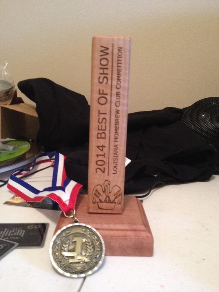 LouisianaHomebrewClubCompetitionBestOfShowTrophy