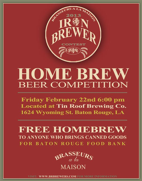 Iron Brewer Homebrew Competition At Tin Roof Bayou Beer